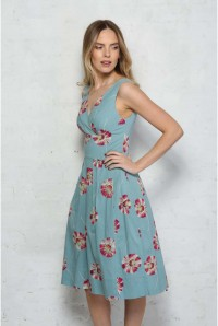 Daisy Print Prom Dress