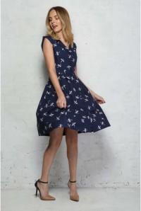 Dragonfly Print Prom Dress