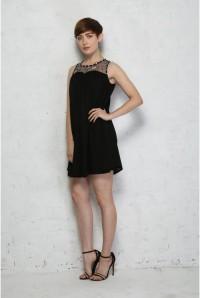 Black Embellished Flapper Dress