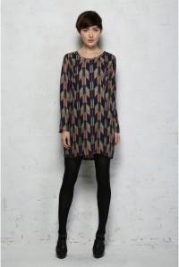 1970s Print Dress