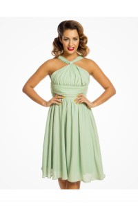 Green Halterneck Prom Dress