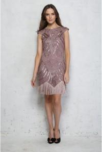 Pink Tassel Flapper Dress