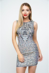 Short Silver Flapper Dress