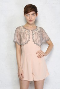 Pink Beaded Playsuit