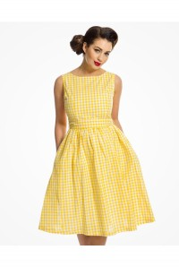 Yellow Gingham Prom Dress