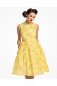 Yellow Gingham Prom Dress