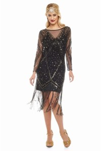 Long Sleeved Flapper Dress