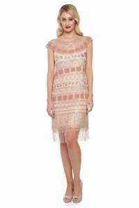 Blush Flapper Dress