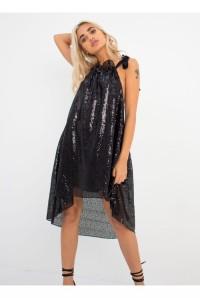 Black Sequin Loose Flapper Dress