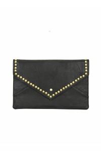 Black Studded Clutch Bag
