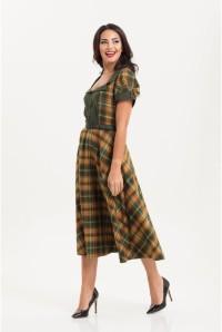 Tartan Midi Dress