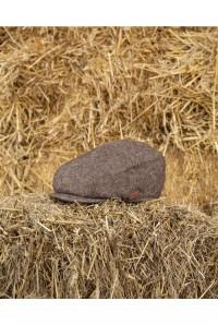 Brown Tweed Baker Boy Hat