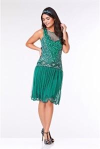 Teal 1920s Dress