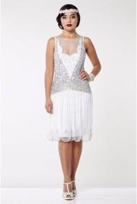 White 1920s Dress