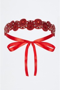 Eliza Flapper Headband in Red