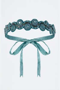 Teal Flapper Headband