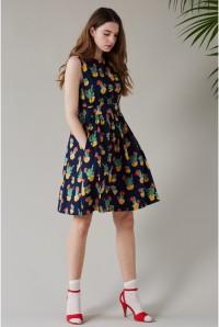 Cactus Print Prom Dress - Emily & Fin