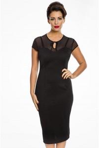 1950s Black Pencil Dress