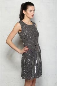 Silver Flapper Dress