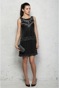 Black Deco Flapper Dress
