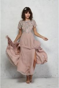 1930s Beaded Maxi Dress