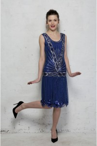 Frock And Frill Zelda Flapper Dress - Blue