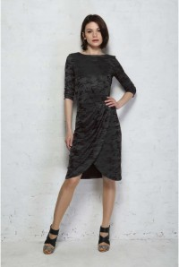 French Connection Stable Jacquard Dress - Black