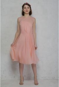 Rose Tan French Connection Sunray Chiffon Dress