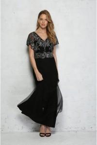 Black Caped Maxi Dress