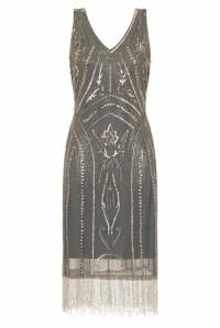 Jade Blue 1920s Dress