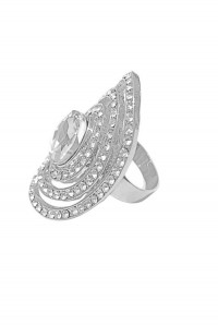 Silver Flapper Ring
