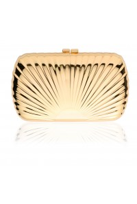 Gold Shell Clutch