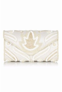 Embellished Cream Clutch