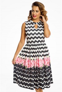 Chevron Print Prom Dress