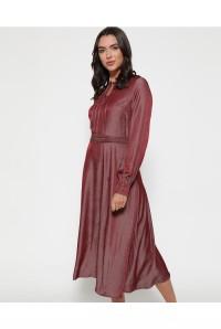 Red Midi Tea Dress