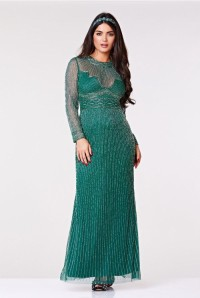 Green Gatsby Maxi Dress