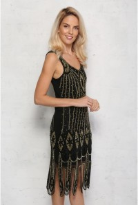 Black And Gold 1920s Dress