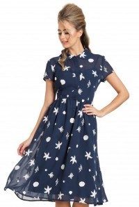 Seaside Print Tea Dress