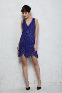 Blue Gatsby Flapper Dress