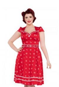 Red Nautical Prom Dress