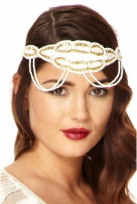 Ritz Headband in White Gold