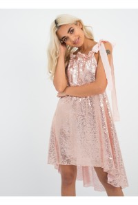 Rose Gold Sequin Flapper Dress
