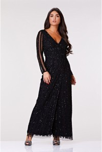 Black Long Sleeved Maxi Dress