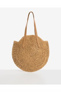 Round Straw Handbag