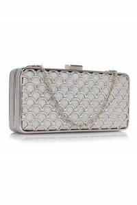 Silver Scallop Clutch