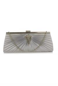 Silver Gatsby Handbag