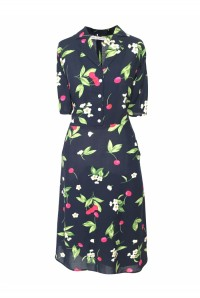 Cherry Print Tea Dress