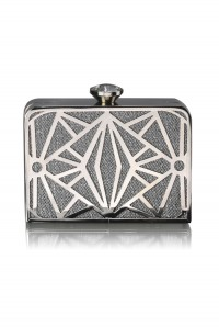 Silver Gatsby Clutch Bag