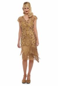 Gold Fringed Flapper Dress