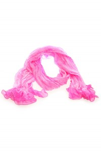 1920s Style Long Pink Silk Scarf